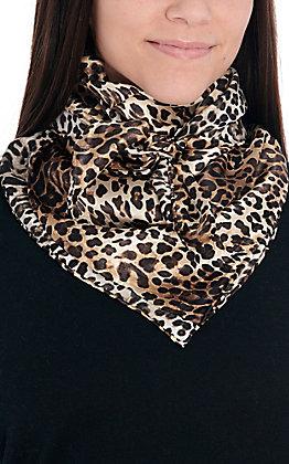Leopard Print Silk Wild Rags Scarf