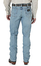 Wrangler Men's Bleach Wash Cowboy Cut Silver Edition Slim Fit Jean