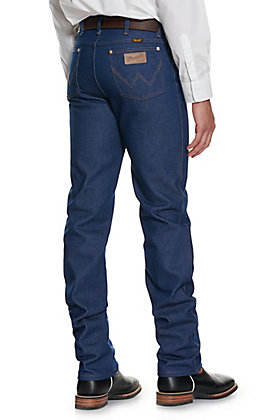 Wrangler Men's Rigid Indigo Cowboy Cut Slim Fit Jeans