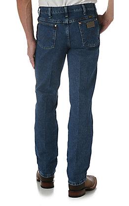 Wrangler Men's Cowboy Cut Stonewash Blue Slim Fit Tall Jeans