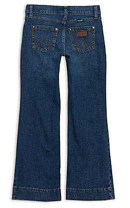 Wrangler Girls' Darci Medium Wash Trouser Jeans