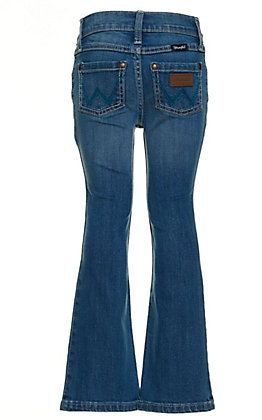Wrangler Girls' Cathleen Light Wash Boot Cut Jeans
