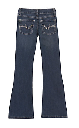 Wrangler Girls' Dark Wash Boot Cut Jeans
