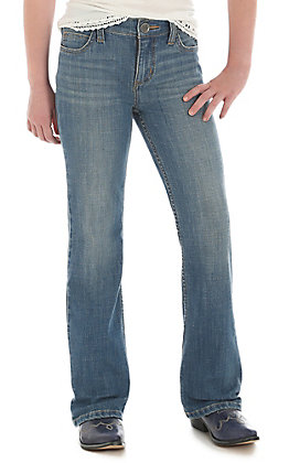 Wrangler Girls Medium Wash Boot Cut Jeans