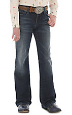 Wrangler Girls Dark Wash Boot Cut Jeans