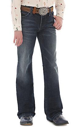 Wrangler Girls Dark Wash Boot Cut Jeans