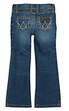 Wrangler Girls Dark Wash W Stitch Patch Boot Cut Jeans