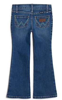 Wrangler Girl's Stacie Med Wash Boot Cut Jeans