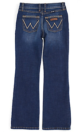Wrangler Retro Girls' Stormy Dark Wash Boot Cut Jeans