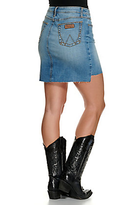 Wrangler Retro Women's Medium Wash Mid Rise Denim Skirt