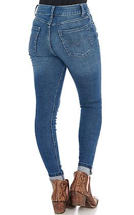 Wrangler Women's Dark Wash Mid Rise Skinny Leg Jeans
