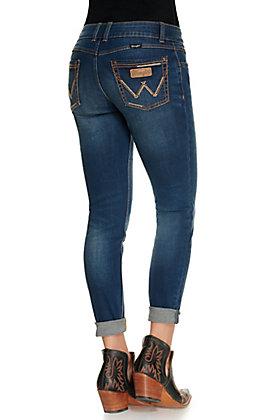 Wrangler Retro Women's Mae Mid Rise Skinny Leg Stretch Jeans