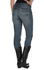 Wrangler Women's Medium Wash Open Pocket Straight Leg Jeans