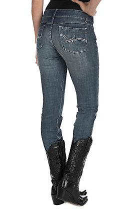 Wrangler Women's Medium Wash Open Pocket Straight Leg Jeans