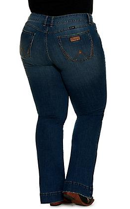 Wrangler Retro Women's Mae Med Wash Mid Rise Trouser Jean - Plus Size