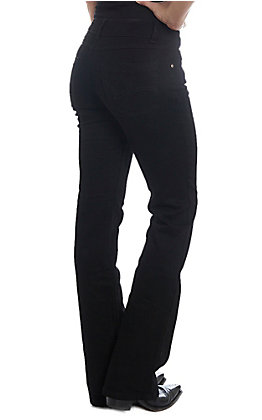 Wrangler Women's Black Mid Rise Boot Cut Jeans