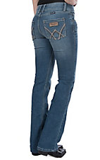Wrangler Women's Mae Mid Rise Retro Deadwood Boot Cut Jeans