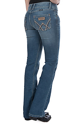 Wrangler Retro Women's Deadwood Medium Wash Mid Rise Boot Cut Jeans
