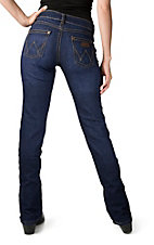 Wrangler Premium Patch Women's Mae Dark Wash Above Hip Rise Boot Cut Jean 09MWZEF