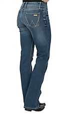 Wrangler Retro Women's Mae Mid Rise Medium Wash Boot Cut Jeans