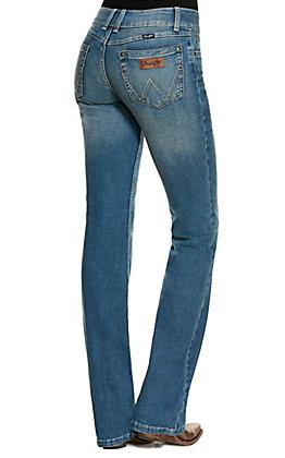 Wranger Retro Women's Mae Light Wash Mid Rise Boot Cut Jeans