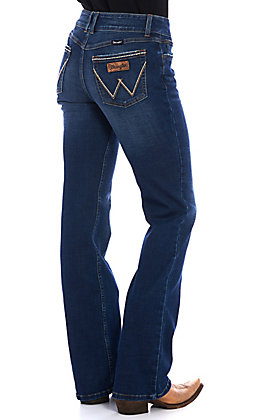 Wrangler Retro Women's Mae Mid Rise Boot Cut Jeans