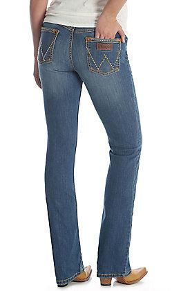 Wrangler Retro Women's Mae Medium Wash Boot Cut Jeans - Plus Sizes