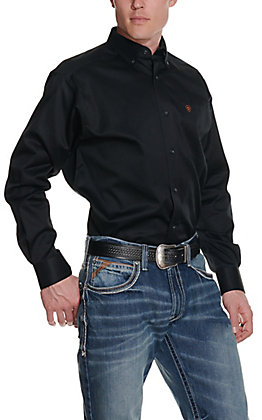 Ariat Mens L/S Solid Black Shirt