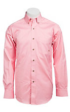 Ariat Mens L/S Solid Pink Shirt 10000527