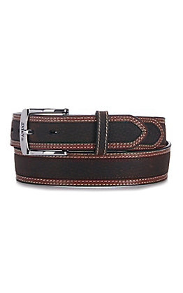 Ariat Men's Diesel Brown Classic Leather Belt