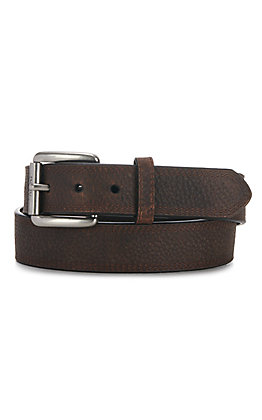 Ariat Men's Rowdy Brown Triple Stitch Basic Belt