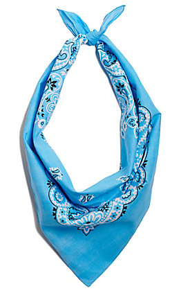 M&F Western Light Blue Large Bandana