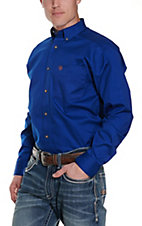 Ariat Mens L/S Solid Blue Shirt 10006660
