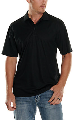 7a29c0155 Ariat TEK Mens S S Solid Black Polo Shirt 10009062