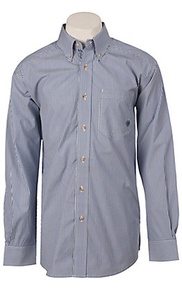 Ariat Men's L/S Balin Stripe Royal Shirt 10009683