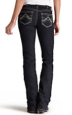 Ariat REAL Denim Women's Eclipse Boot Cut Mid-Rise Dark Wash Riding Jeans