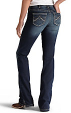 Ariat REAL Denim Women's Spitfire Boot Cut Mid-Rise Medium Wash Riding Jeans