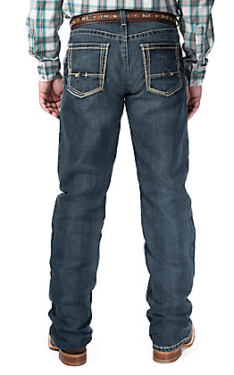 Ariat Men's M4 Boundary Relaxed Fit Low Rise Boot Cut Jean - Extended Sizes (42-44)