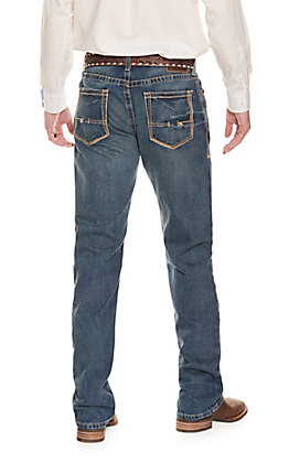 Ariat Men's M4 Boundary Relaxed Fit Low Rise Boot Cut Jean