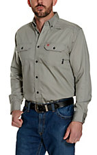 Ariat Work FR Men's Solid Silver Fox Long Sleeve Flame Resistant Work Shirt - Big & Tall