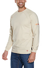 Ariat Work FR Men's Sand HRC2 Crew Neck Long Sleeve Flame Resistant Shirt