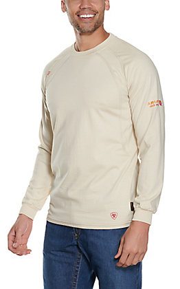 Ariat Men's Sand Crew Long Sleeve FR Work Shirt