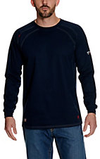 Ariat Work FR Men's Navy HRC2 Crew Neck Long Sleeve Flame Resistant Shirt - Big & Tall