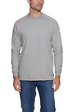 Ariat Work FR Men's Silver Fox HRC2 Crew Neck Long Sleeve Flame Resistant Shirt - Big & Tall