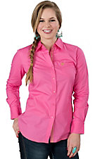 Ariat Women's Kirby Pink Long Sleeve Western Shirt