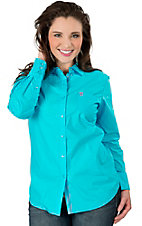 Ariat Women's Kirby Turquoise Long Sleeve Western Shirt