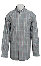 Ariat Men's L/S Wade White Western Plaid Shirt 10013294