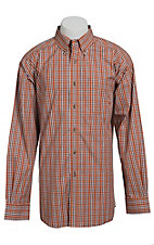 Ariat Men's L/S Laughlin Sunset Western Plaid Shirt 10013350