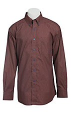 Ariat Men's L/S Ellis Western Print Shirt 10013353