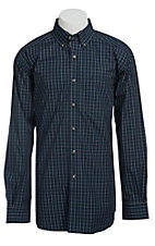 Ariat Men's L/S Pete Western Plaid Slim Fit Shirt 10013370